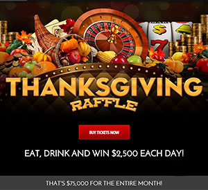 Rich Casino's $75,000 Thanksgiving Raffle Random Giveaway