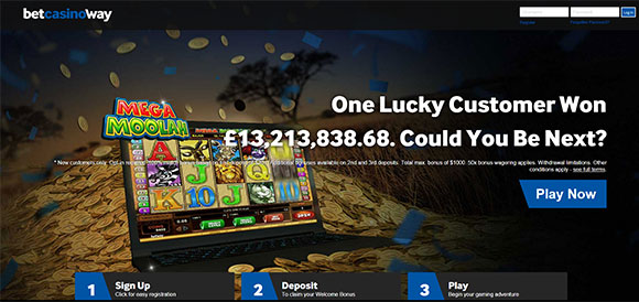 BetWay Casino Mega Moolah Winner