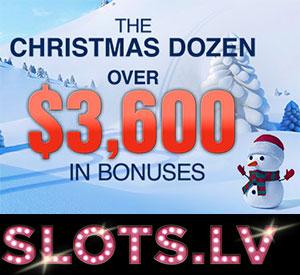 Slots.lv The Christmas Dozen, $3600 in Casino Bonuses