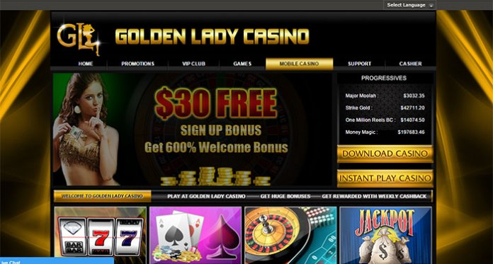 Avoid Golden Lady Casino - Bonus Fraud