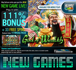 The God of Wealth Slot is Smiling Free Spins Upon You!