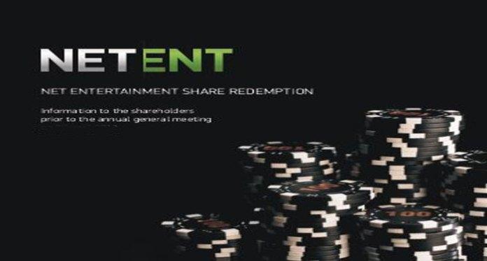 NetEnt's New Shares Automatic Redemption Program
