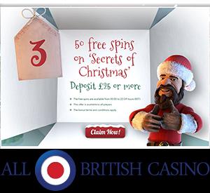All British Casino's New Promotion, Christmas Calendar Bonuses