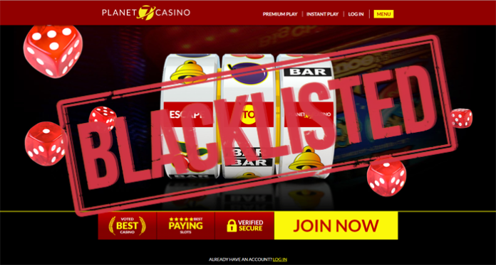 Planet 7 Casino is Now Blacklisted