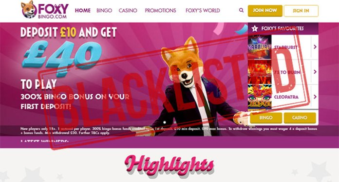 Foxy Bingo Affiliate Scam – Blacklisted