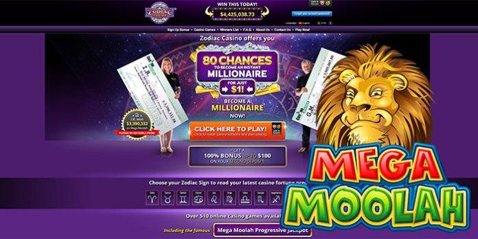 Zodiac Casino Once Again Crowns Mega Moolah Jackpot Winner