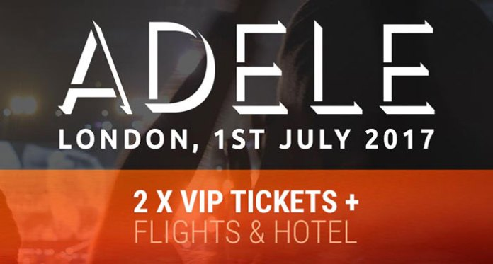 Two VIP Tickets to Adele in London at Bitstarz