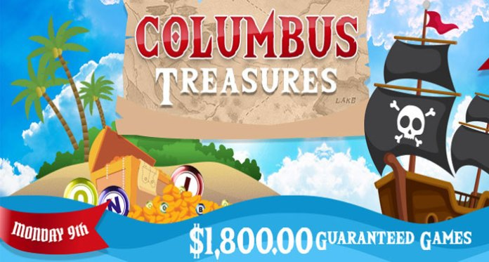 Hunt for the Columbus Day Bingo Treasures at Downtown Bingo