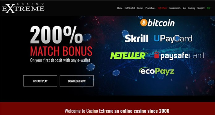 Roll For It Promotion, Choose Your Bonus at Casino Extreme