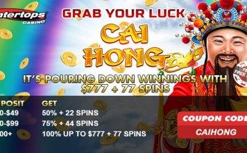 Get Spin Bonuses on RealTime Gaming's Slot Cai Hong at Intertops