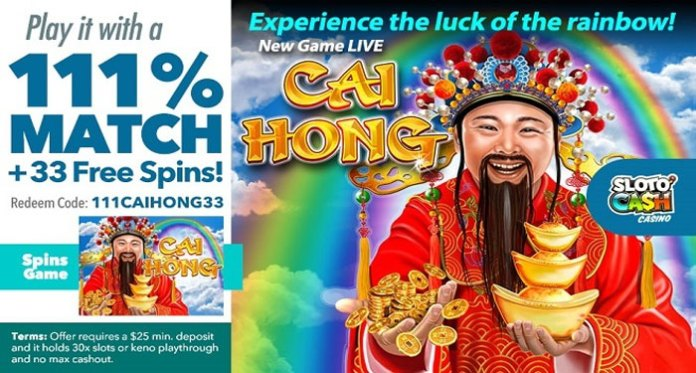 CPR Weekly, New Bonuses Plus New Free Spins Bonus on Cai Hong Slot