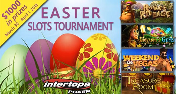 $1000 Easter Slots Tournament at Intertops Poker This Weekend Only