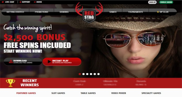 Play and Win with Red Stag Casinos 125% Bonus Cash Redemptions