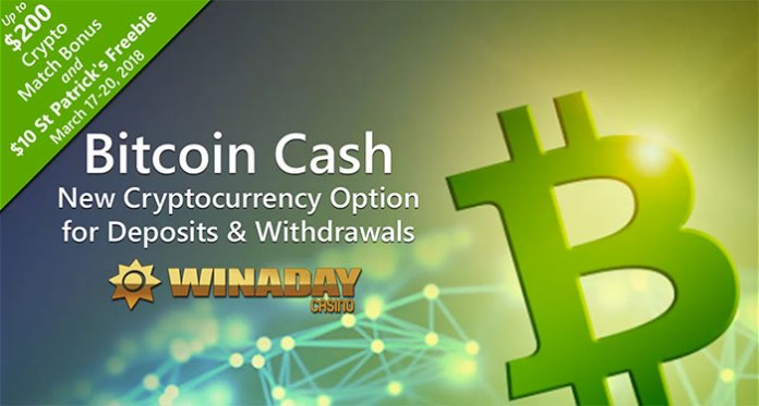 WinADay Bitcoin St. Patrick Day Bonuses, Enjoy Freebies and More!