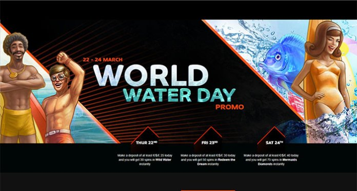 Play for Spins on Deposits at NextCasino on World Water Day