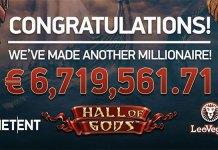NetEnt's Hall of Gods Mobile Slot Pays Out Historic €6.7 Million Jackpot
