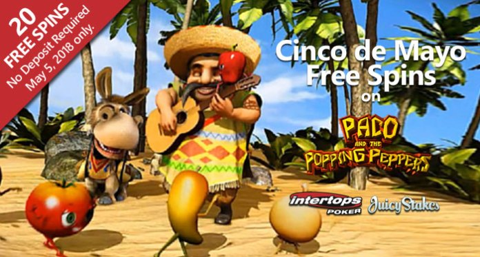Get Two Great Bonuses at Intertops Cinco de Mayo Celebration