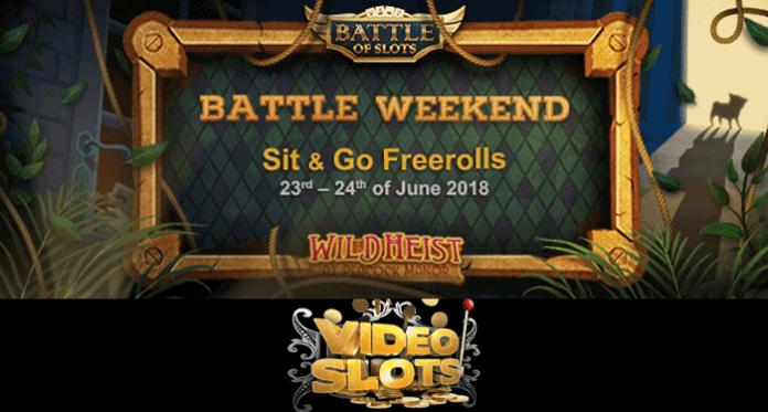 Battle Weekend at VideoSlots with Wild Heist at Peacock Manor Freeroll