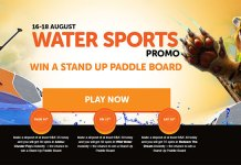 Wild Slots Summer Water Sports Bonus, Win a Stand-Up Paddle Board