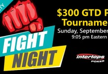 Pull Up to the $300 GTD PLO Fight Night at Intertops Poker