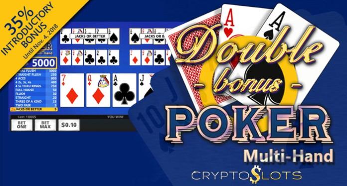 New Double Bonus Poker Multi-Hand Introductory Bonus