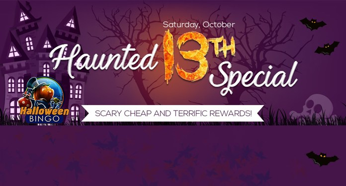 Cash Prizes to Be Won in Downtown Bingos Haunted 13th Special!