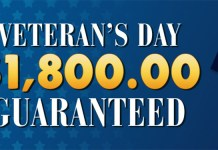 Downtown Bingos Veteran's Day $1,800 Guaranteed Cash Prize