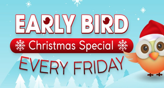 Early Bird Christmas Special Every Friday at Downtown Bingo