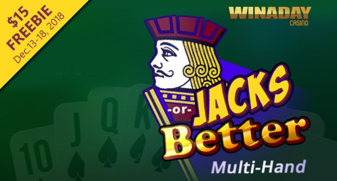 Get a $15 Free Chip on Jacks or Better Multi-Hand