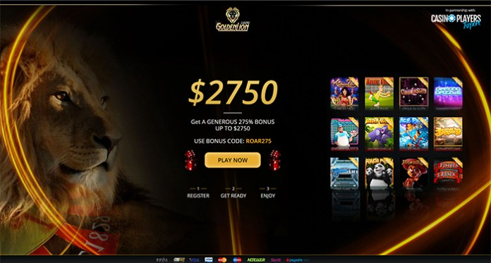 Golden Lion Casino Offering Daily Specials and Slot Tournaments