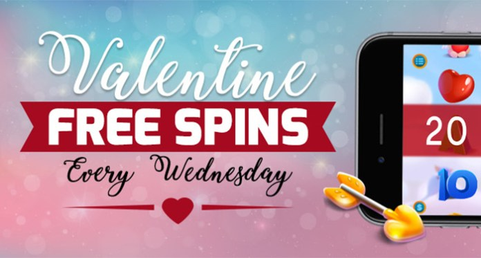 Valentine Free Spins Every Sunday at Downtown Bingo