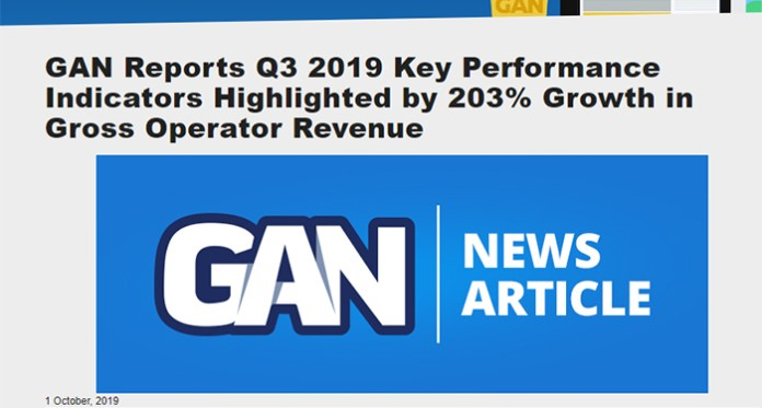 Online Sports Betting in the US Drives GAN's Revenues up by 202.7%