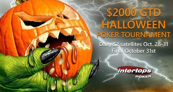 Intertops Poker $2000 Prize Pool for a Halloween Poker Tournament