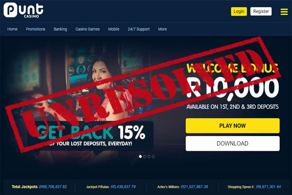 punt casino complaint