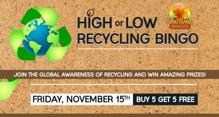 """Friday, November 15th it's """"America Recycles Day"""" at Downtown Bingo"""
