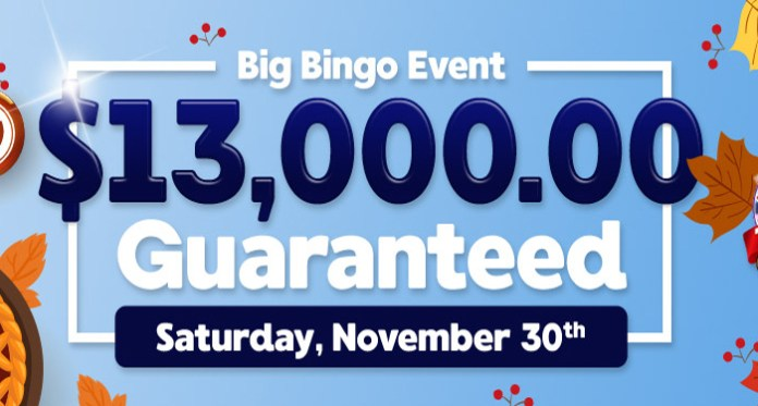 Big Bingo Event This Saturday November 30 at Downtown Bingo