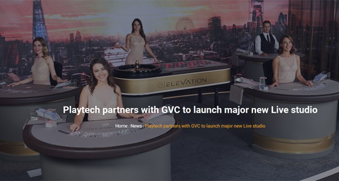 GVC Holdings and Playtech Announce Launch of a Live Casino Studio