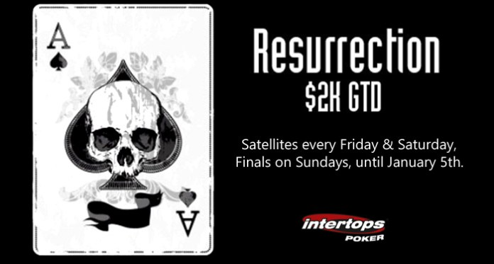 $2000 GTD Resurrection Tournaments Offer Re-entry at Intertops Poker