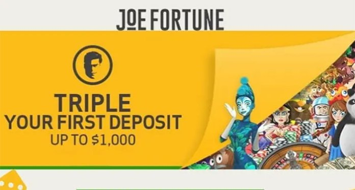 Take Advantage of Joe Fortune Casinos Generous Welcome Bonus