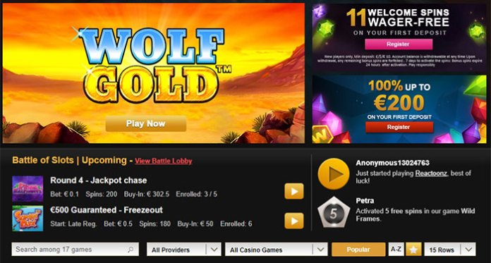 Join Battle of the Slots Tournaments When you Play Videoslots.com
