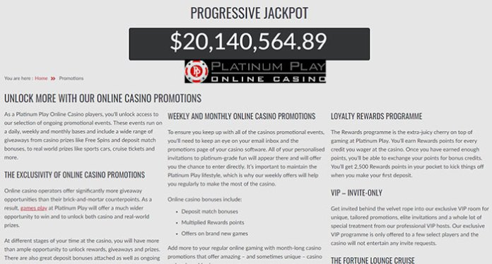 Join Platinum Play Casino To Become Their Next Jackpot Winner