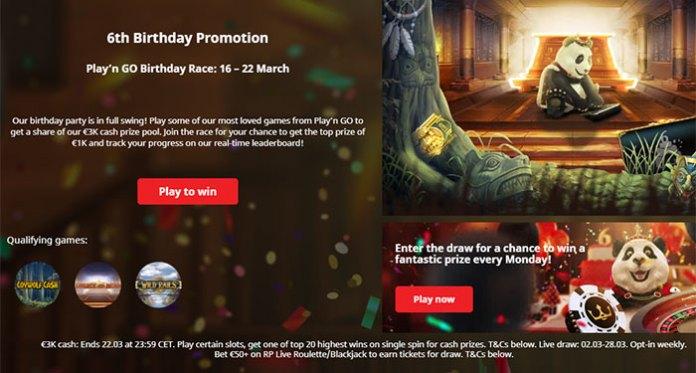 Royal Panda Gifts Players for Week 2 Birthday Celebrations