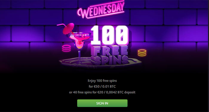 Wednesday free spins app
