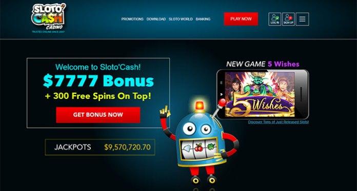 Bonuses, Progressives and Fantastic Casino Games at Sloto'Cash