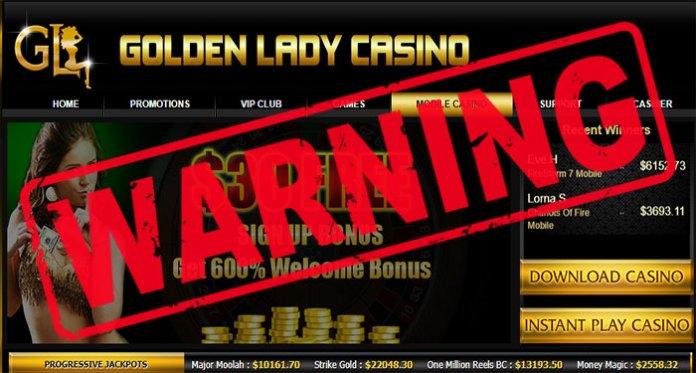 golden lady casino scam