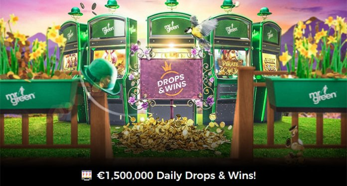 Snag A Share of £1,500,000 in DAILY DROPS & WINS at Mr Green Casino