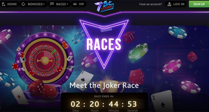 Earn Your Comp Points at 7Bit Casino When You Play Joker Races