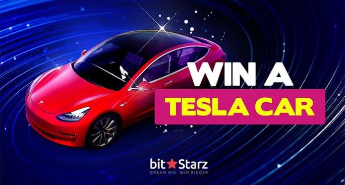 Tesla Giveaway Back at Bitstarz + 30 Free Spins & 50% Bonus