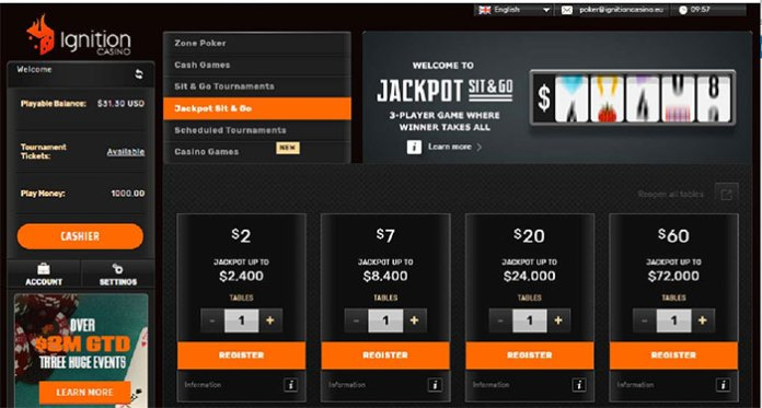 Millions are Guaranteed Every Week When You Play Ignition Poker