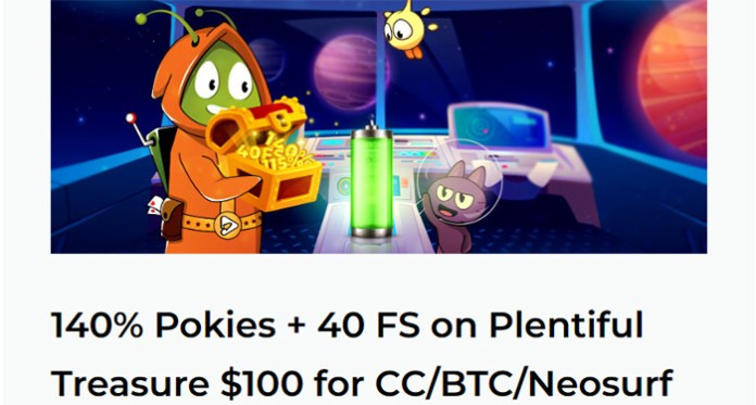 Get Free Spins on Plentiful Slot at Aussie Play Casino
